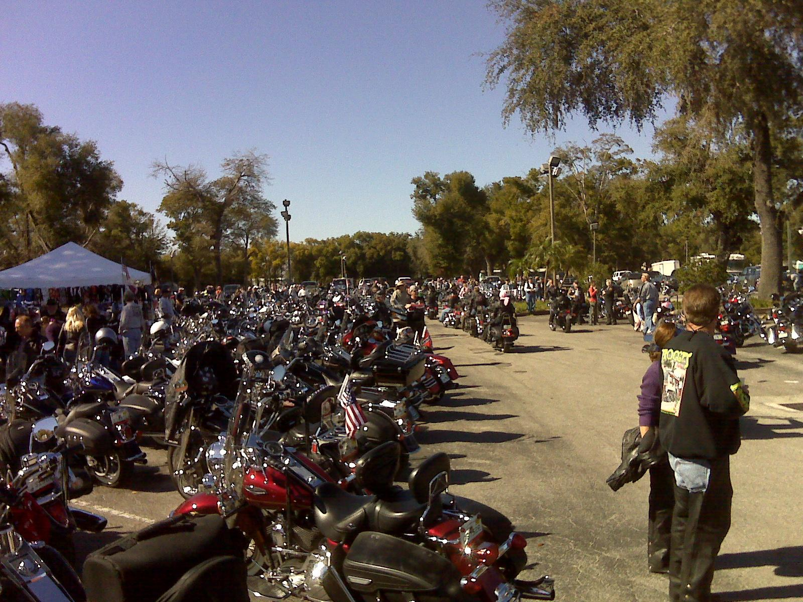 Bikes at the Chrome Angels Pink Ribbon breast cancer event