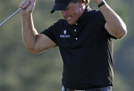 Masters Golf - Phil Mickelson and Amy Mickelson