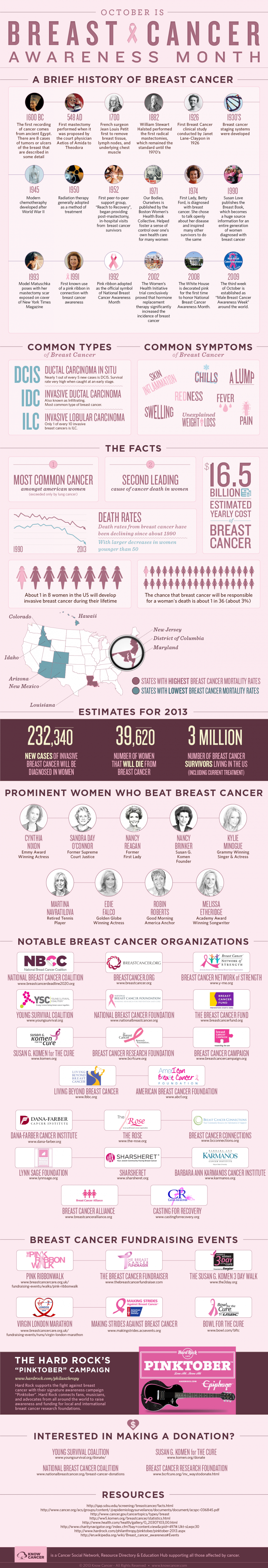 Breast Cancer Awareness 2013 Infographic Cancer Blog
